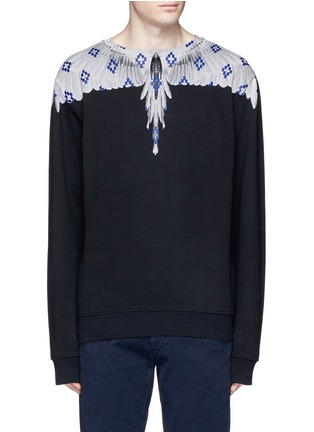 Main View - Click To Enlarge - Marcelo Burlon - 'Pelarco' wing print sweatshirt
