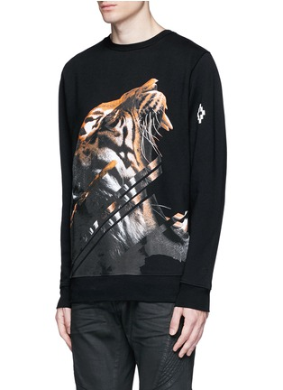 Front View - Click To Enlarge - Marcelo Burlon - 'Quebradas' animal print sweatshirt