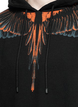 Detail View - Click To Enlarge - Marcelo Burlon - 'Cerro Blanco' wing print hoodie