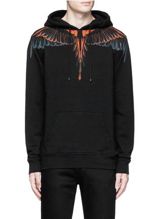 Main View - Click To Enlarge - Marcelo Burlon - 'Cerro Blanco' wing print hoodie