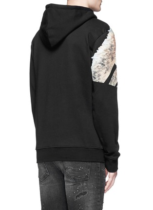 Back View - Click To Enlarge - Marcelo Burlon - 'Cruces' animal print hoodie