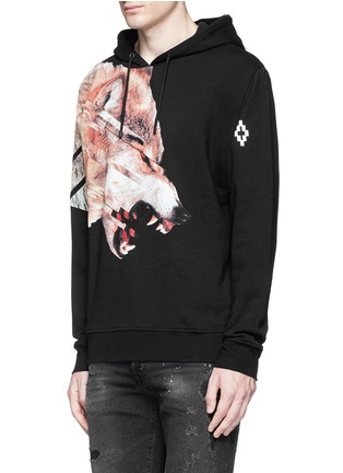 Front View - Click To Enlarge - Marcelo Burlon - 'Cruces' animal print hoodie