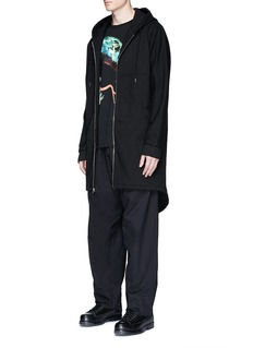 Marcelo Burlon 'Antisana' wide leg cotton twill pants