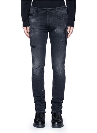 Detail View - Click To Enlarge - Marcelo Burlon - Regular fit vintage wash jeans
