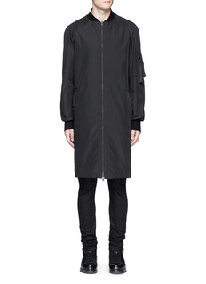 Marcelo Burlon 'Rahue' reversible long jacket
