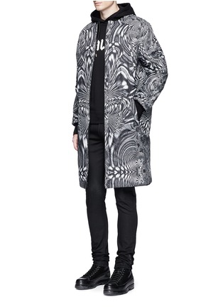 Figure View - Click To Enlarge - Marcelo Burlon - 'Rahue' reversible long jacket