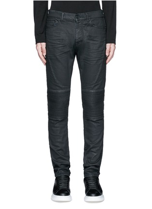 Detail View - Click To Enlarge - Marcelo Burlon - Slim fit overdye biker jeans