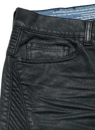 - Marcelo Burlon - Slim fit overdye biker jeans
