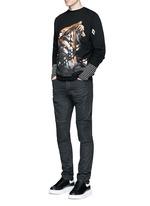 Slim fit overdye biker jeans