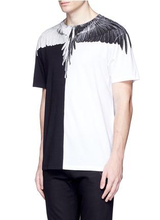 Front View - Click To Enlarge - Marcelo Burlon - Lagunas Bravas' wing print T-shirt