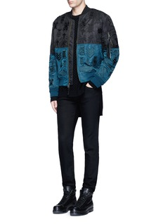 Marcelo Burlon'Alpha Industries' colourblock patch embroidery bomber jacket