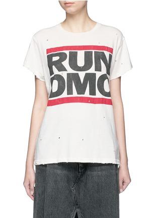Madeworn-'Run DMC' hand distressed slogan T-shirt