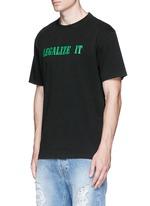 'LEGALIZE IT' print T-shirt