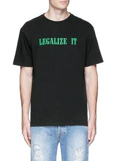 Palm Angels'LEGALIZE IT' print T-shirt