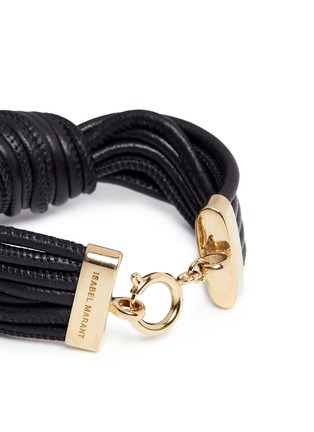 Detail View - Click To Enlarge - Isabel Marant - 'Caravanes' leather cord knot bracelet
