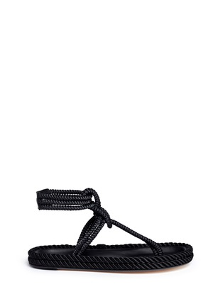 Main View - Click To Enlarge - Isabel Marant - 'Lesley' knotted rope T-strap sandals
