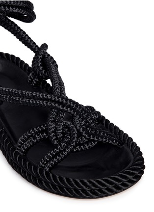 Detail View - Click To Enlarge - Isabel Marant - 'Lou' crisscross rope sandals