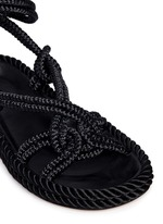 'Lou' crisscross rope sandals
