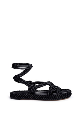 Main View - Click To Enlarge - Isabel Marant - 'Lou' crisscross rope sandals