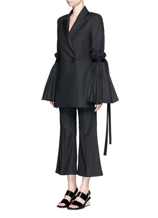 Figure View - Click To Enlarge - Ellery - 'Bulgaria' cady cropped flare pants