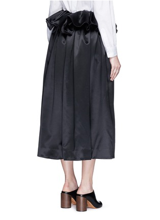 Back View - Click To Enlarge - Ellery - 'Impact' gathered apron bonded silk satin midi skirt