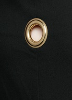 'Ray' asymmetric strap grommet A-line tunic dress