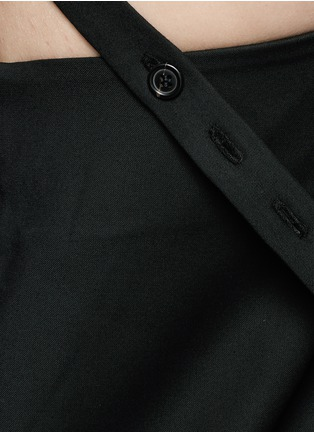 Detail View - Click To Enlarge - Ellery - 'Ray' asymmetric strap grommet A-line tunic dress