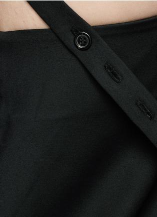 Ellery-'Ray' asymmetric strap grommet A-line tunic dress