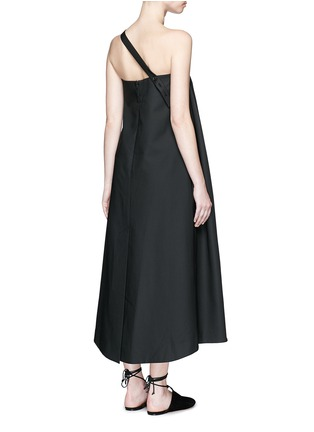 Back View - Click To Enlarge - Ellery - 'Ray' asymmetric strap grommet A-line tunic dress