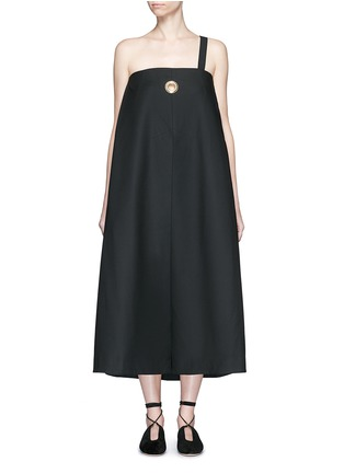 Main View - Click To Enlarge - Ellery - 'Ray' asymmetric strap grommet A-line tunic dress