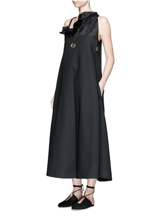 Figure View - Click To Enlarge - Ellery - 'Ray' asymmetric strap grommet A-line tunic dress