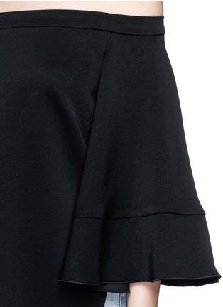 Detail View - Click To Enlarge - Ellery - 'Elize' off-shoulder bell sleeve satin crepe top
