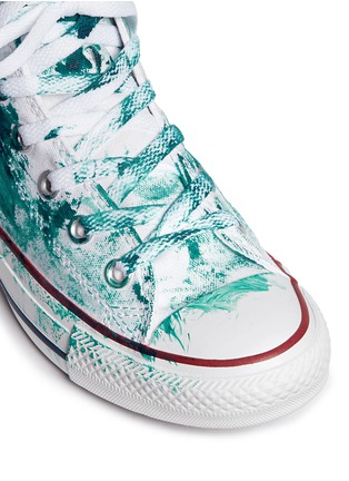 Detail View - Click To Enlarge - RIALTO JEAN PROJECT - One of a kind hand-painted splash high top sneakers - Sz 37