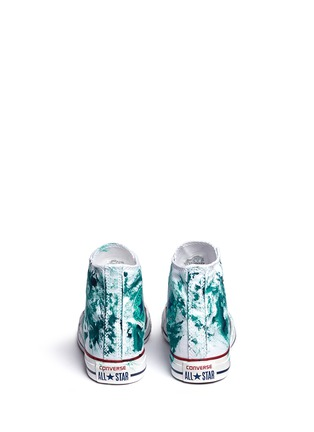 Back View - Click To Enlarge - RIALTO JEAN PROJECT - One of a kind hand-painted splash high top sneakers - Sz 37
