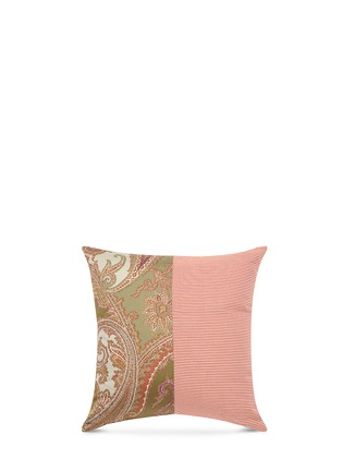Main View - Click To Enlarge - Etro - Zanzibar Uganda paisley print stripe patchwork cushion