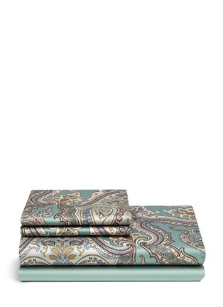 Main View - Click To Enlarge - Etro - Zanzibar Brunei paisley print king size duvet set