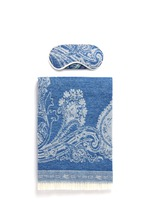 Cali Tulua wool-cashmere paisley jacquard travel throw