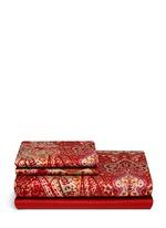 Lindsey Avon paisley print king size duvet set
