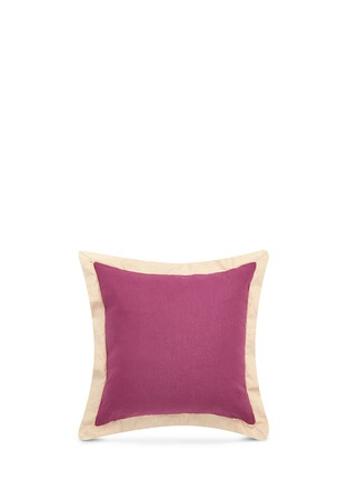 Main View - Click To Enlarge - Etro - Zanzibar Aden flounce linen cushion