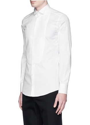 Front View - Click To Enlarge - Dolce & Gabbana - 'Gold' wingtip collar pleat bib tuxedo shirt