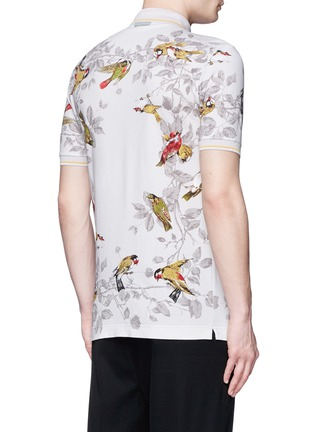 Back View - Click To Enlarge - Dolce & Gabbana - Bird print polo shirt