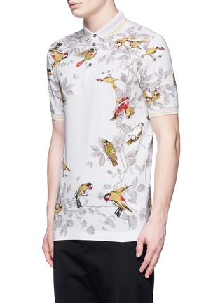 Front View - Click To Enlarge - Dolce & Gabbana - Bird print polo shirt