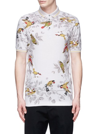Main View - Click To Enlarge - Dolce & Gabbana - Bird print polo shirt