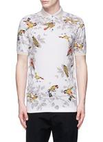 Bird print polo shirt