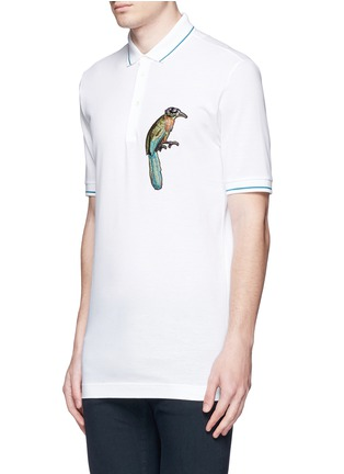 Front View - Click To Enlarge - Dolce & Gabbana - Bird patch embroidery polo shirt