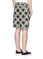 螺旋印花亚麻短裤