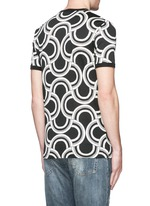Spiral print cotton T-shirt