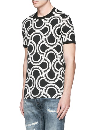 Front View - Click To Enlarge - Dolce & Gabbana - Spiral print cotton T-shirt