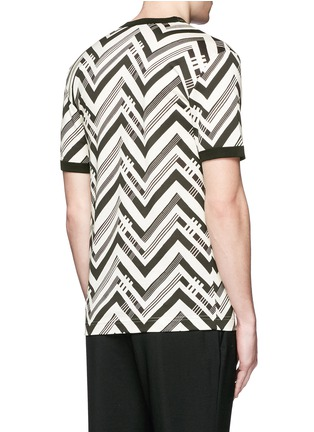 Back View - Click To Enlarge - Dolce & Gabbana - Zigzag print T-shirt