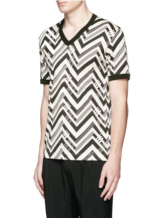 Front View - Click To Enlarge - Dolce & Gabbana - Zigzag print T-shirt